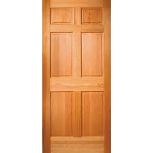 Lowes Exterior Entry Doors Shop Jeld Wen 6 Panel Solid Wood Hem Fir Unfinished Slab Entry Door Common 36 In X 80 In