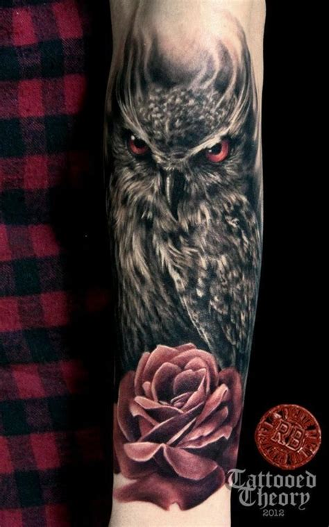 owl rose tattoo 15 must see owl sleeves pins owl tattoos