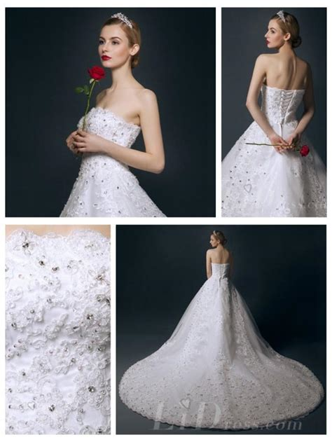 strapless beaded a line wedding dress 2553042 weddbook
