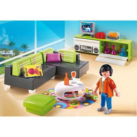 playmobil living room playmobil modern living room 5584 toys thehut com