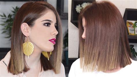 corte de pelo recto c 243 mo cortarte el cabello recto ana mireles youtube