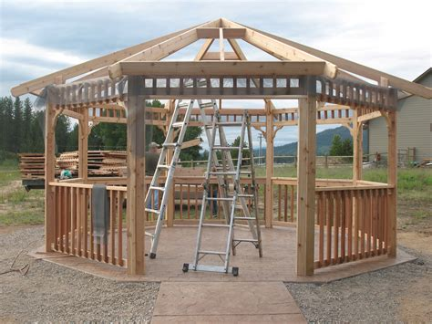 wooden gazebo kits gazebo kits pergolas gazebos and decks