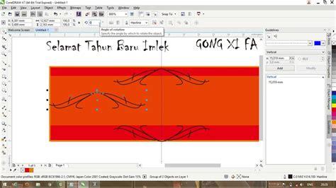 tutorial coreldraw membuat spanduk tutorial membuat spanduk simple tahun baru imlek dengan