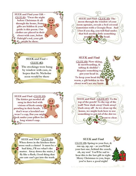 christmas scavenger hunt clues christmas pinterest