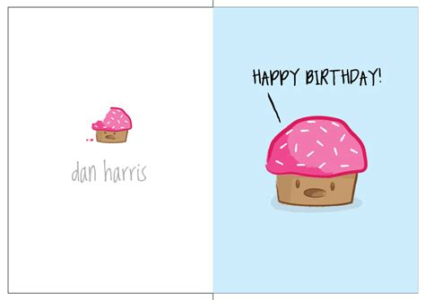 printable birthday cards cute cute cake birthday card blue by danharris on deviantart