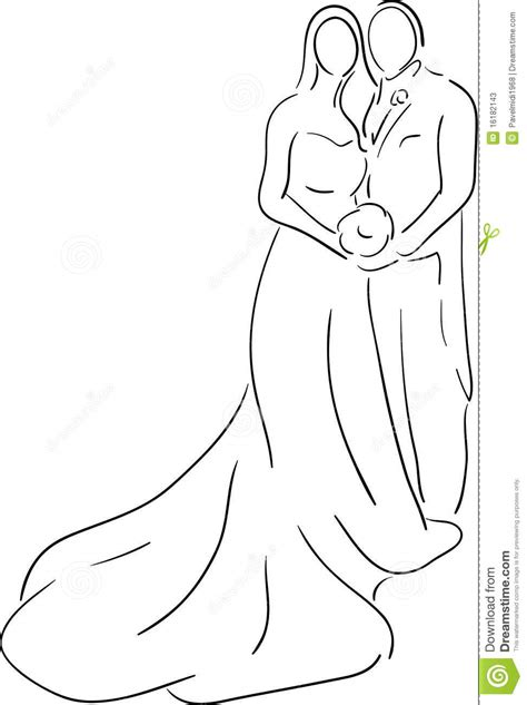 And Groom Outline Drawing by Groom Stock Photos Image 16182143