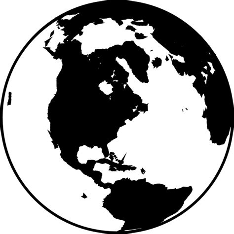 World Globe Clipart Black And White white and black globe clip at clker vector clip royalty free domain