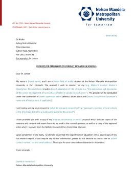 Permission Letter To Conduct Research letter to school principal for permission to conduct