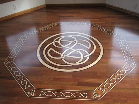 celtic themed design hardwood floor hardwood flooring