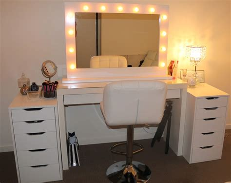 Rogue hair extensions ikea makeup vanity amp hollywood lights