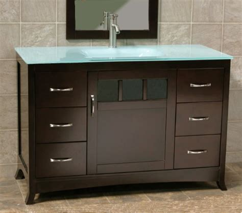 Bathroom Vanities Best Prices Cheap Price Soild Wood 48 Quot Bathroom Vanity Cabinet Glass Lavatory Top Integrated Sink