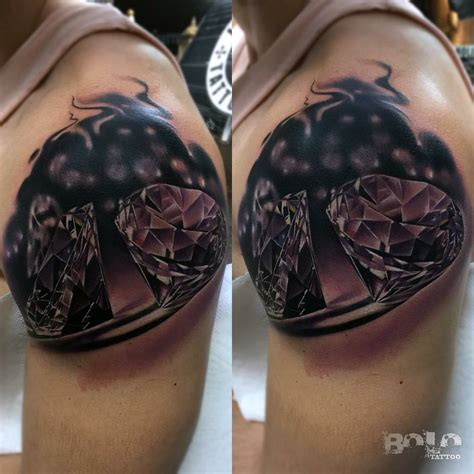 diamond tattoo and custom art diamond tattoo on shoulder best tattoo ideas gallery