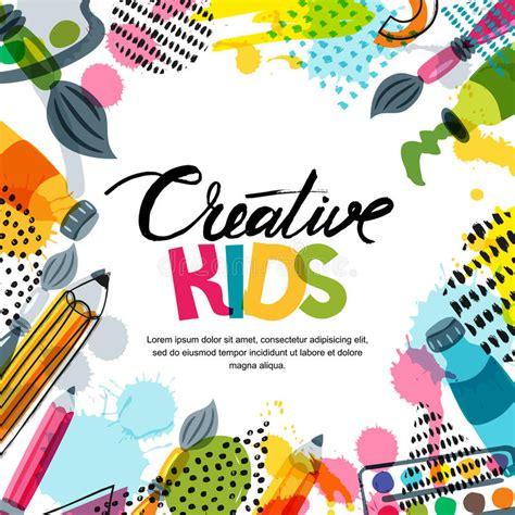 kids designs etc ed s art kids art education creativity class concept vector