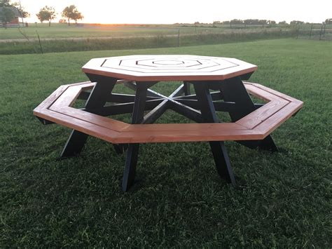 white octagon picnic table diy projects