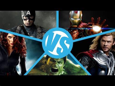 film thor captain america iron man vs captain america vs thor vs incredible hulk