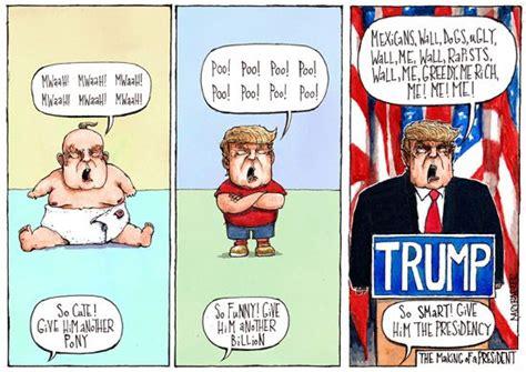 donald trump presidential picture president trump cartoon gary barker illustration