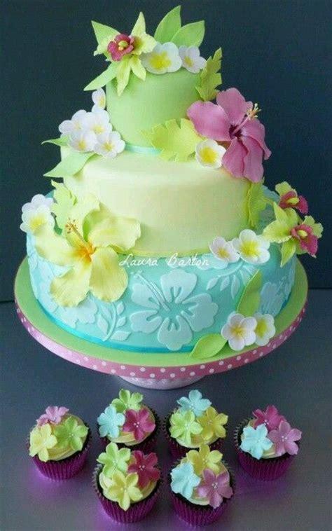 bizcocho decorado hawaiano hawaii ideas de fiesta hawainas bizcocho pastel