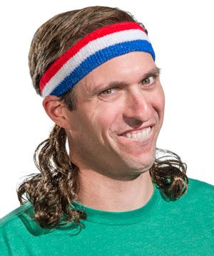 Strange Home Decor Mullet On The Go Mullet Wig Integrated Into A Headband