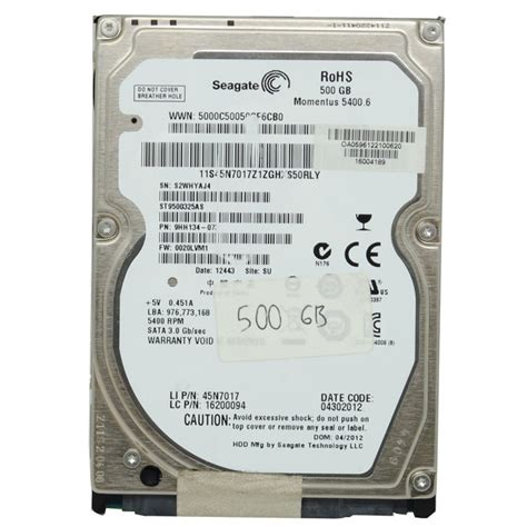Hdd Netbook 500gb Seagate 2 5 seagate hdd 2 5 inch for notebook st9500325as 500gb