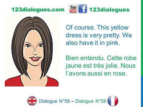preguntas entrevista dependienta dialogue 58 english french anglais fran 231 ais shopping