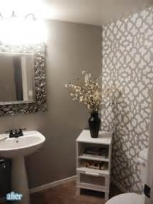 half bath accent wall for the home