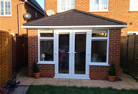 garden room with lightweight tiled consecratory roof