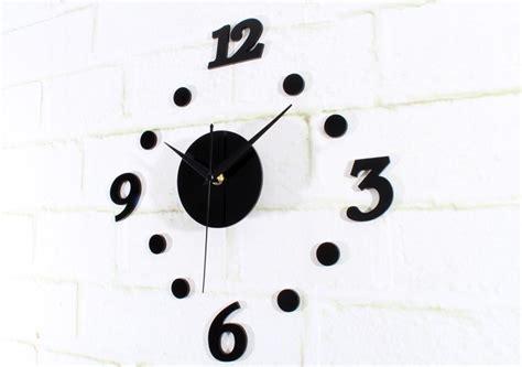 Diy Acrylic Wall Clock 30 50cm Diameter Murah jam dinding diy 30 50cm black jakartanotebook