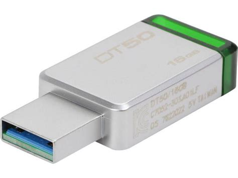 Kingston Datatraveler 50 Usb 3 1 32gb Dt50 32gbfr Diskon kingston 16gb datatraveler 50 usb 3 0 flash drive dt50 16gb newegg