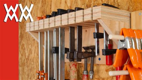 woodworking clamp storage  organization youtube