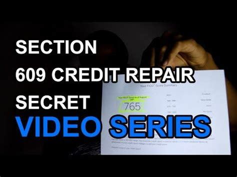 Section 609 Credit Dispute Letter Package Free Section 609 Credit Repair Secret Fix Your Own Credit