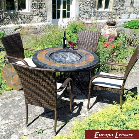 Firepit Table Set Europa Leisure Durango 4 Seater Pit Table Set Chairs Ebay