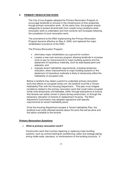 Demand Letter To Contractor To Complete Work Los Angeles Rent Stabilization Handbook Rent