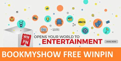 Bookmyshow Winpin | bookmyshow winpin code free rs 150 voucher for july 2016