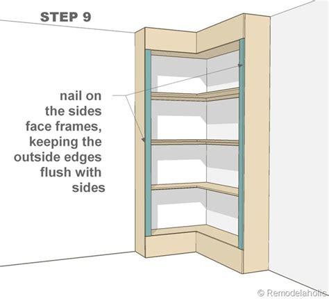 build corner bookcase   build  corner bookcase
