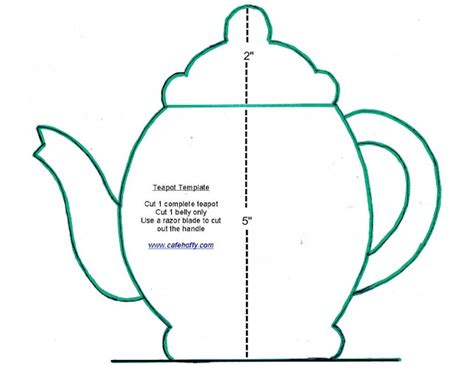 free printable teapot templates teapot template printable cake ideas and designs