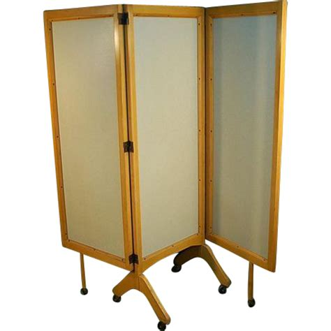rolling room dividers mid century modern rolling folding screen room divider