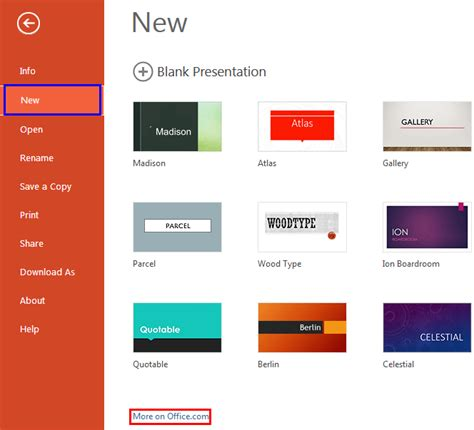 Get More Templates And Themes In Powerpoint Online More Themes For Powerpoint