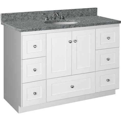 Home Depot Bathroom Vanities 48 Simplicity By Strasser Shaker 48 In W X 21 In D X 34 5 In H Vanity Cabinet Only In Satin