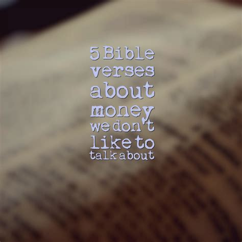 5 bible verses about money we don t like to talk about