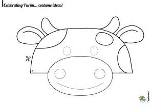 Purim Mask Template by Free Purim Mask Coloring Pages