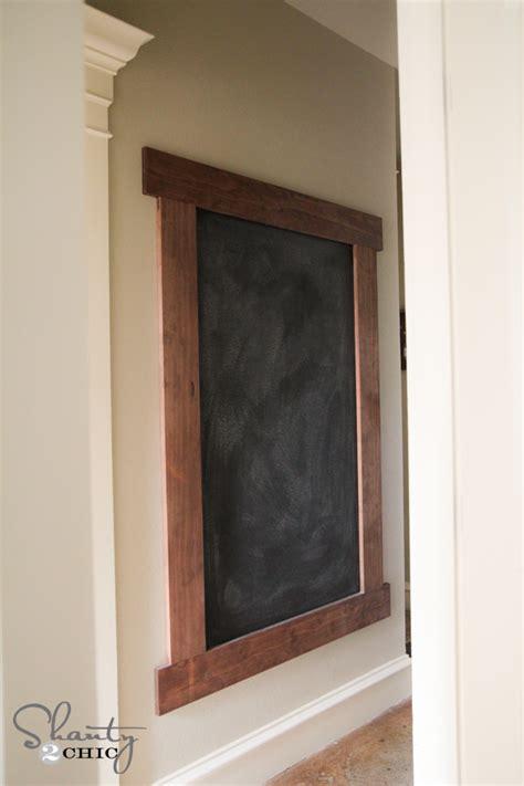 diy chalkboard wall diy framed chalkboard wall shanty 2 chic