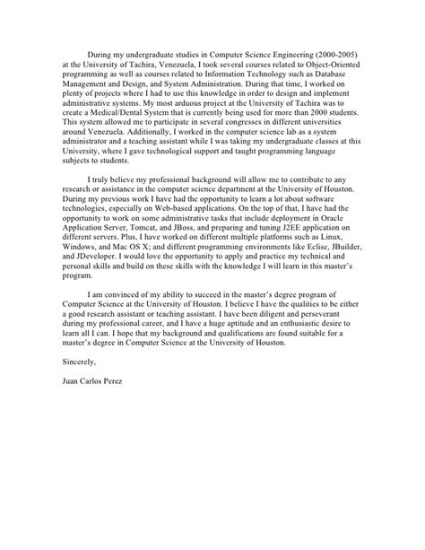 Uncg Personal Statement Msn Mba by Personal Statement Statement Of Intent Career Autos Post
