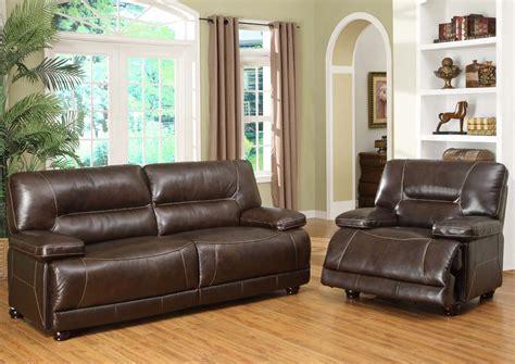 Barrington Sofa by Abbyson Living Barrington Premium Italian Leather Sofa And Recliner Set Ch 8862 Brn 3 1