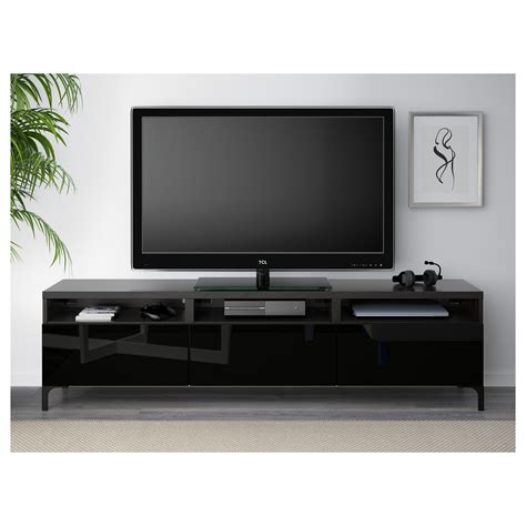 black high gloss tv bench best 197 tv bench with drawers black brown selsviken high