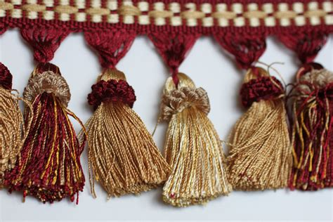 tassels home decor trim tassel fringe burg gold home decor tassels