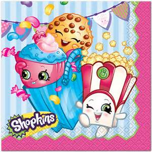 Shopkins lunch napkins 16 at birthday direct