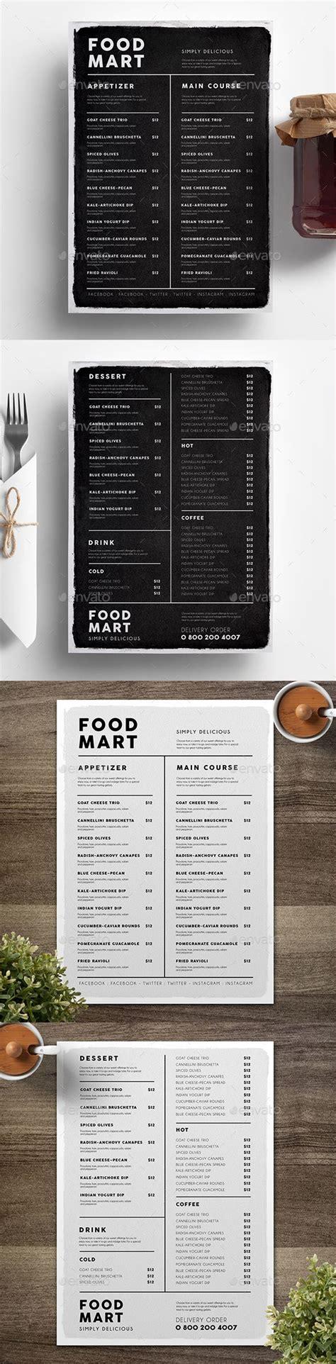 oddfellows menu a simple and sleek menu general design regarding