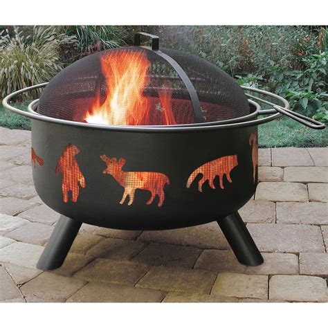 Landmann Firepit With Accessories Big Sky Wildlife Firepit Accessories