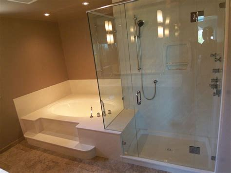 combined shower and bathtub tub shower combo ideas for small bathrooms bath decors