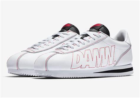 Sepatu Nike Cortez kendrick lamar x nike cortez kenny 1 release info av8255 106 sneakernews